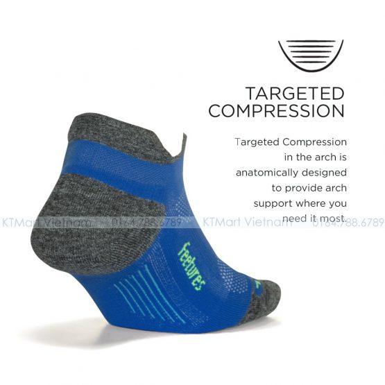 Tất thể thao Feetures Elite Max Cushion No Show Tab Athletic Running Socks Feetures