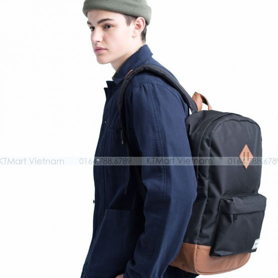 Ba lô Sinh viên Herschel Heritage Backpack Forest Night Black 10007 Herschel