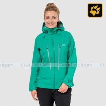 Áo khoác gió Jack Wolfskin Womens Exolight Mountain Waterproof Jackets Deep Mint Jack Wolfskin