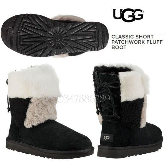 Bốt lông cừu UGG Classic Short Patchwork Fluff Boots 1098071 UGG