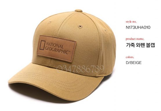 Mũ National Geographic Leather Waffle Ball Cap N173UHA010 National Geographic