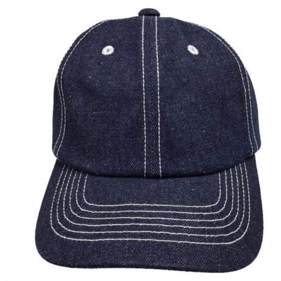 Denim cap indigo blue J754IB – Fullbox