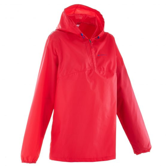 Quechua Raincut Women's Zip Waterproof Hiking Rain Jacket – Pink