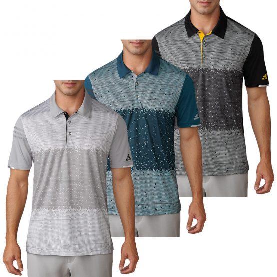 Áo đánh Golf Adidas Men's Climachill Pixel Print Golf Polo Adidas