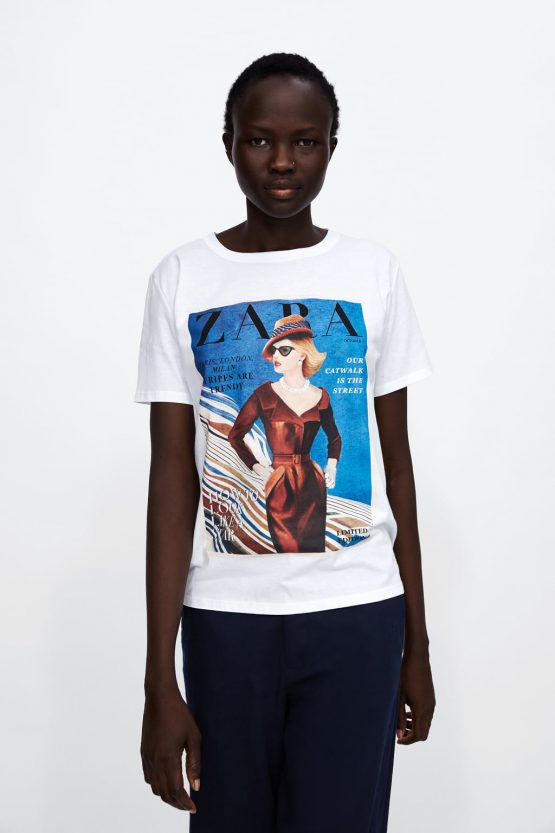 ORIGINAL ZARA GRAPHIC FRONT PAGE T-SHIRT