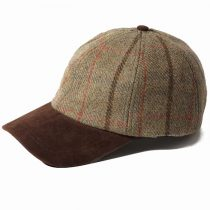 Failsworth Hats Gamekeeper Baseball Cap with Alcantara Peak
