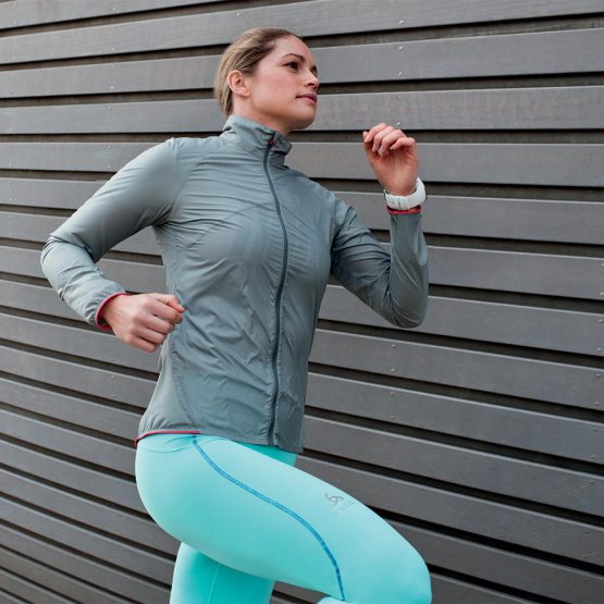 Áo gió chạy bộ đạp xe Odlo LTTL Running Jacket Women 349171 Oldo