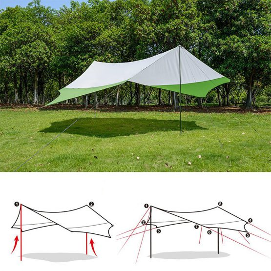 Outdoor Tent Tarp Pole