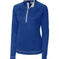 Cutter & Buck Womens Cb Drytec Evolve Half-Zip Solid Long Sleeve Sweatshirt