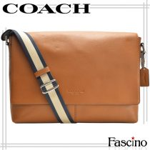 Túi đeo chéo Coach Men 54792 Charleston Leather Large Messenger Dark Saddle Coach