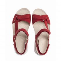Sandal Gabor Women's Strappy Sandal Suede Red 434817 Gabor