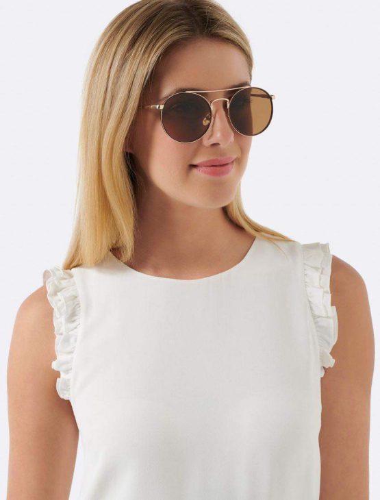 Forever New Layla Round Aviator Sunglasses