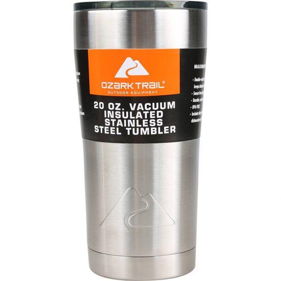 Cốc giữ nhiệt Ozark Trail 20 OZ Double Wall Vacuum Sealed Tumbler Ozark 591ml