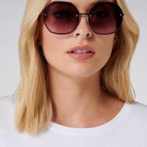 Forever New Scarlet Hexagonal Sunglasses