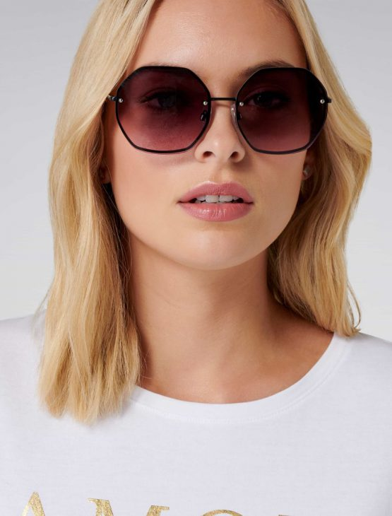 Forever New Scarlet Hexagonal Sunglasses