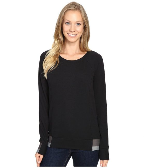 The North Face Street Lounge Crew TNF Black Women's Long Sleeve Pullover NF0A2TFD The North Face