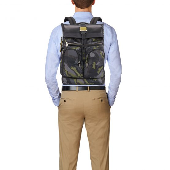 Ba lô Tumi London Roll Top Backpack Green Camo Tumi
