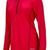 Womens Marmot Canada Interval 1/2 Zip LS Pullovers In Pink Rock/Dark Purple