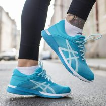 Asics FuzeX Rush Pale Blue White Women Running Training Shoes Sneaker T786N-3901 Fullbox chính hãng