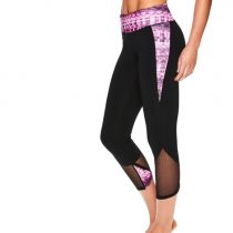 Gaiam Black Tap Shoe Om Mesh Mid-Rise Capri Leggings – Women