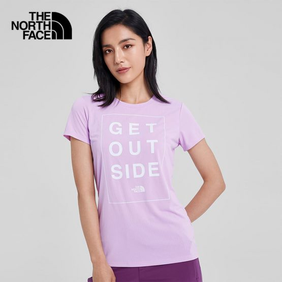 Áo thể thao The North Face Women's Pink Purple Breathable T-Shirt 3V948VL The North Face