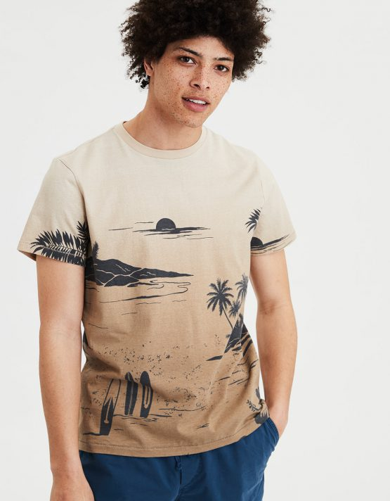 American Eagle AE Tropical Print T-Shirt 1162_9775 American Eagle