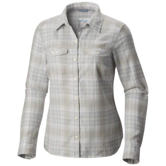 Columbia Silver Ridge Long Sleeve Flannel Shirt (Sea Salt Ombre Plaid)