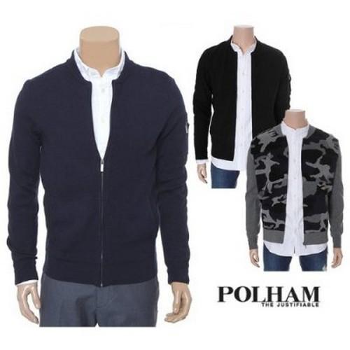 Polham Men's Round Neck Knit Cardigan PHW1EC1020 Polham