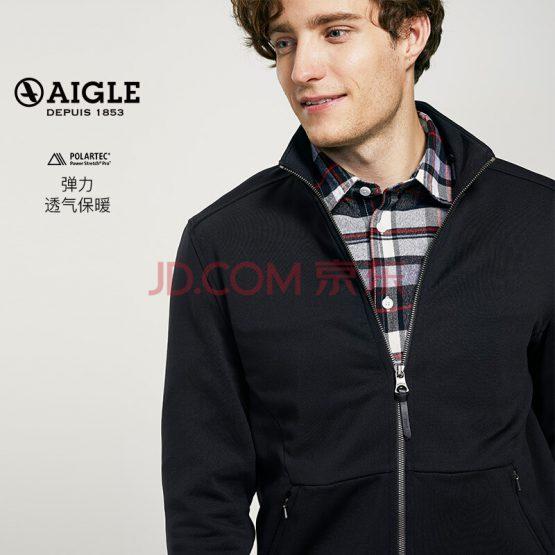 Áo nỉ Porlatec AIGLE Men's Full Pull Fleece Sweater MOYTECHZIP Black Large