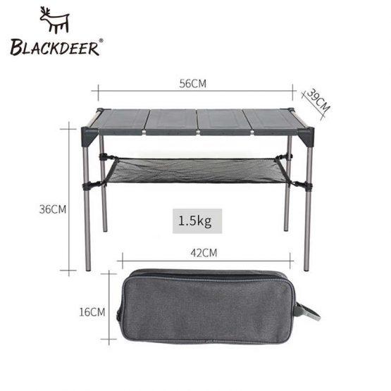 BLACKDEER Portable Folding Table Camping Hiking Desk Traveling Outdoor Picnic Aluminium Alloy Foldable Ultralight Outdoor Tools V918611124