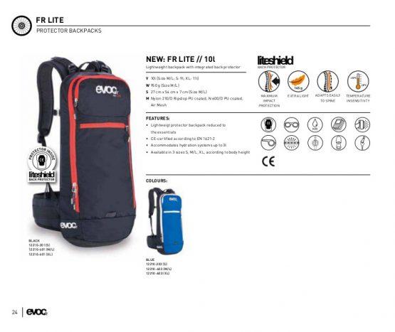 Ba lô đạp xe Evoc fr lite 10 l protector backpack bike