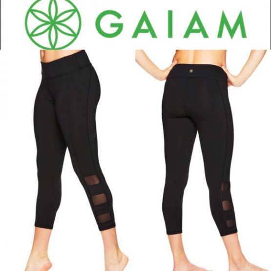 GAIAM WOMEN'S OM YOGA CAPRI LEGGINGS Size L