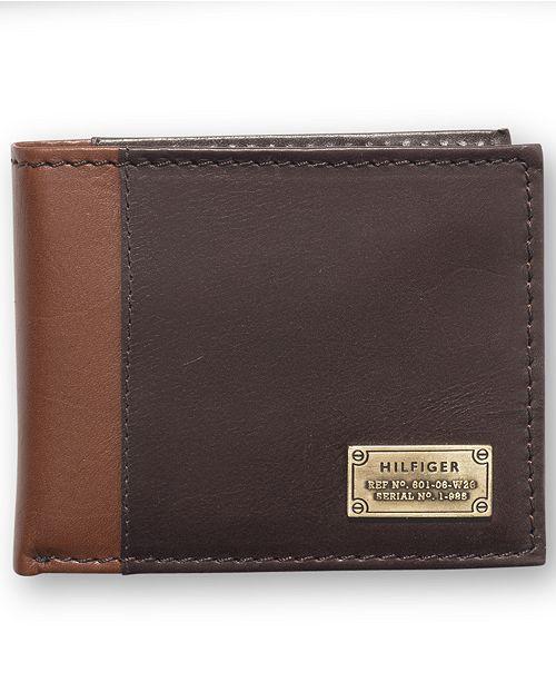 Ví da Tommy Hilfiger Melton Passcase Billfold Men's Leather ID Wallet 31TL22X047