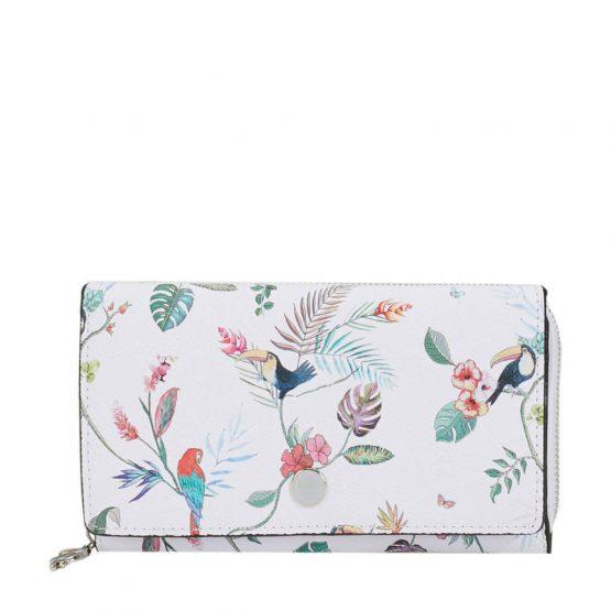 Parfois Flowered Wallet Pink Parfois