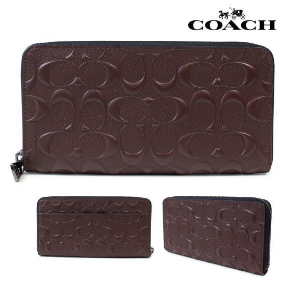COACH long wallet men F58113 mahogany