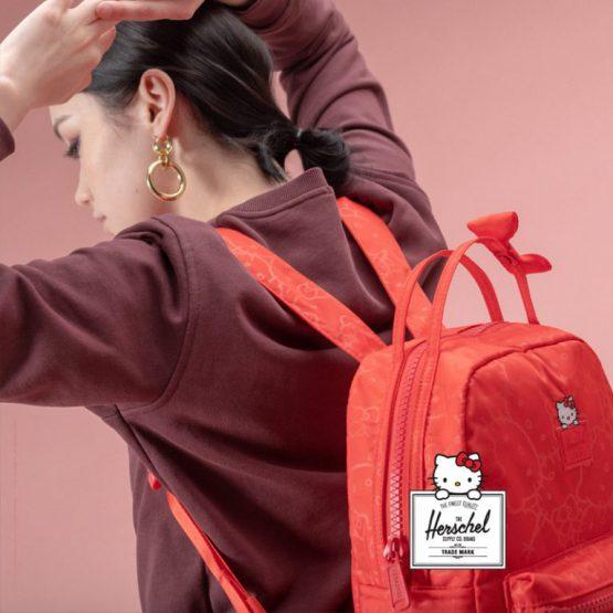 Herschel x Hello Kitty Nova Mid Volume Backpack Red Herschel 18L