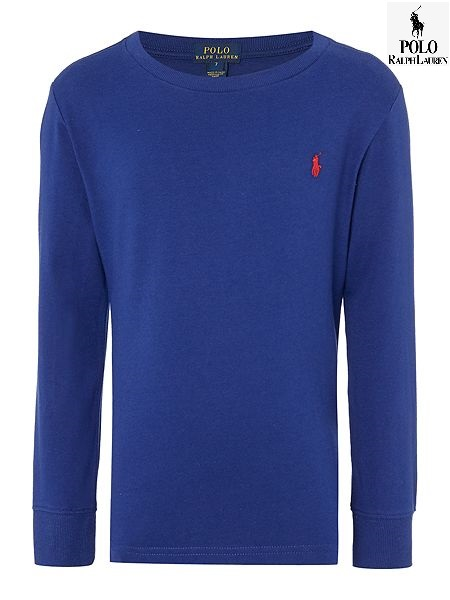 Polo Ralph Lauren Boys Crew Neck Long Sleeve T-Shirt size M 10/12