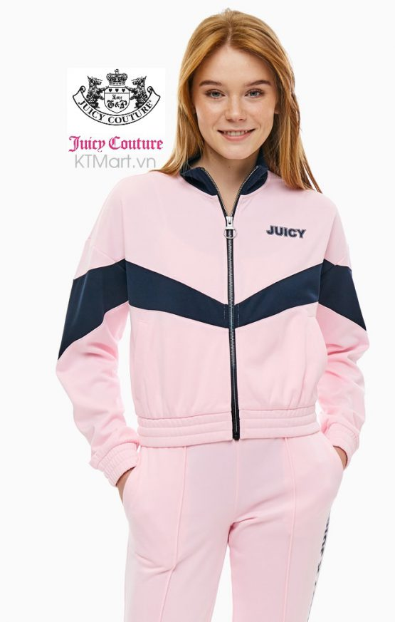 Juicy by Juicy Couture Cropped Pink Zipper Sweatshirt JWTKJ179561 Juicy size S