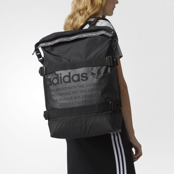 ADIDAS MEN'S ORIGINALS NMD RUN BACKPACK CI0068 BLACK