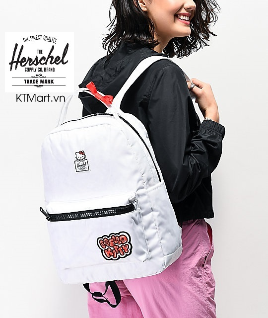 Herschel Supply Co. x Hello Kitty 45th Anniversary Nova Mid White Backpack Herschel 18L