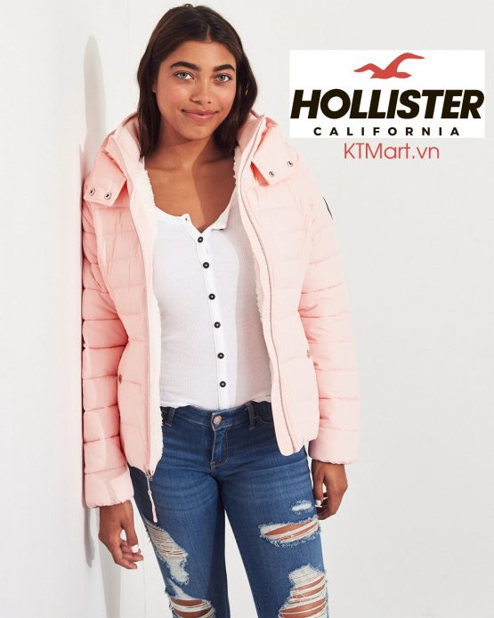 Áo khoác Hollister Sherpa-Lined Puffer Jacket Hollister