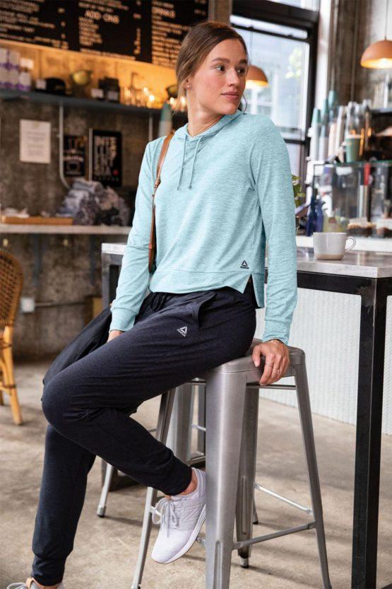 Reebok Hoodies & Sweatshirts 24/7 Jersey Hoodie Dd Digi Blue White – Womens