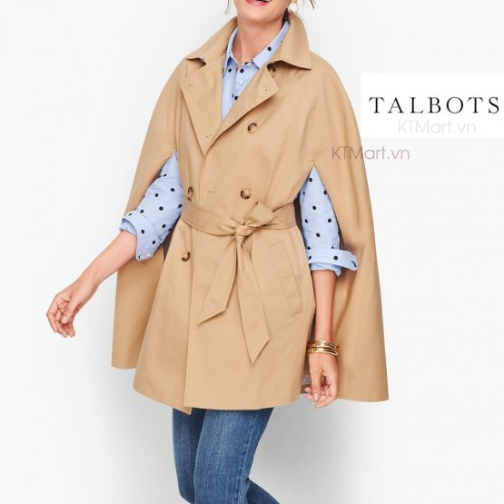 Talbots Belted Trench Cape 193031032 Talbots