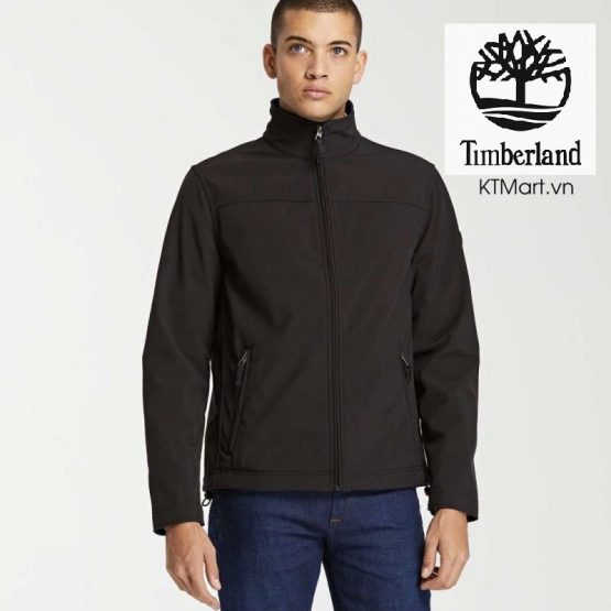 Timberland Men's Elastic Plus Velvet Windproof Stand Collar Soft Shell Jacket A1OGG Timberland size S
