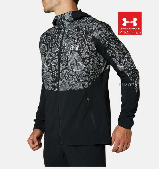 Under Armour UA Light Woven Print Hoodie Running 1346692 Under Armour size M Asia