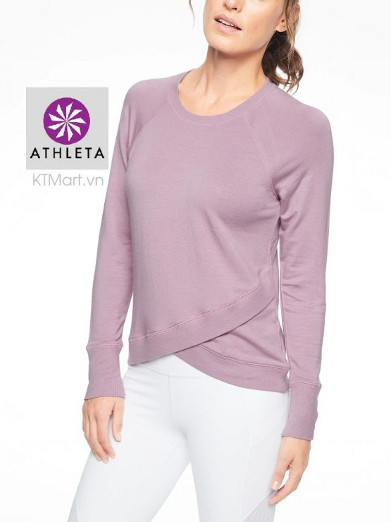 Athleta 489051 Criss Cross Sweatshirt Sugarplum Mauve SOFT size xs, s, m, l