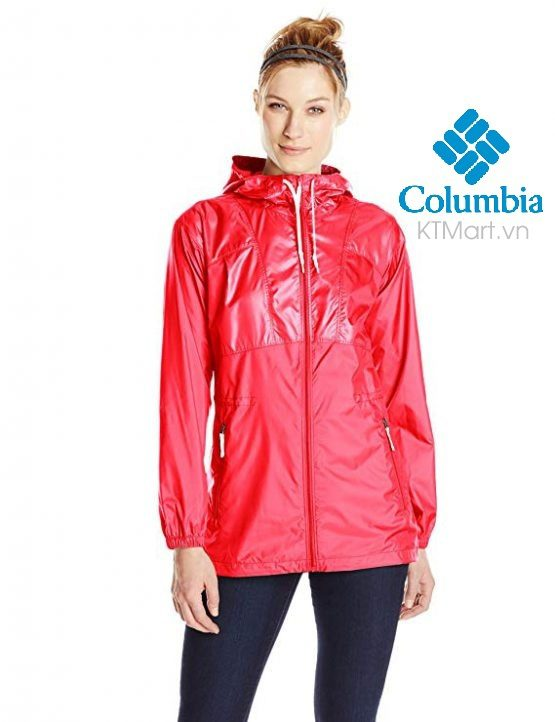 Women's Columbia  Flashback Long Full-Zip Windbreaker Jacket C1992WO Columbia size S