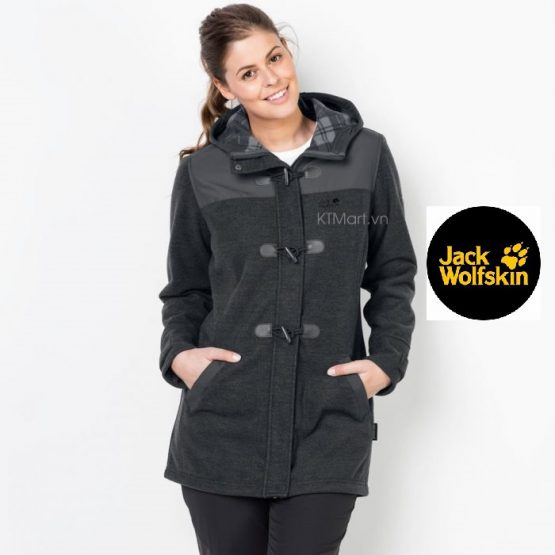 Jack Wolfskin Edmonton Coat Women Phantom 1705791 size XL