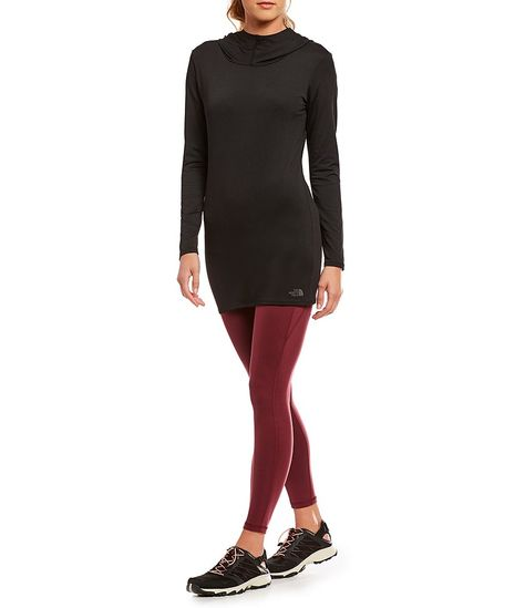 Áo thun The North Face NF0A3LKL Terra Metro Hooded Funnel Neck Long Sleeve Tunic black size xs, s