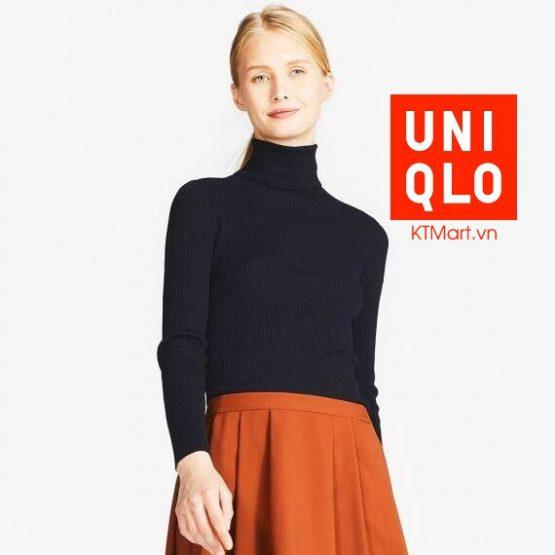 Uniqlo Women Extra Fine Merino Ribbed Turtle Neck Sweater size S, M, L